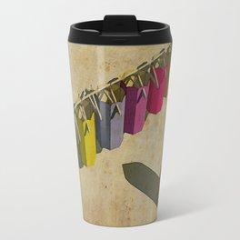 Pencil color dresses - Vestidos para lapices de colores Travel Mug