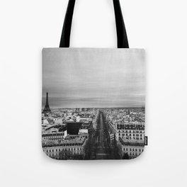 Black and White Paris Tote Bag