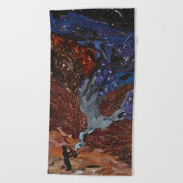 Playing to the Stars Beach Towel