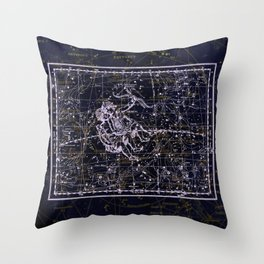 Gemini, Constellation map, Zodiac, Sign sky, Stars, Universe, astrology, astrological, signs, birth Throw Pillow