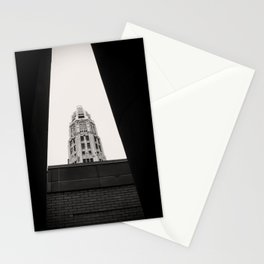 Mather Tower Building Top Chicago Black and White Photo Stationery Cards