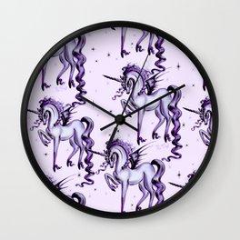 Unicorn with Bat Wings Wall Clock