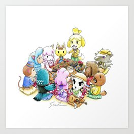 The delicious reunion Art Print
