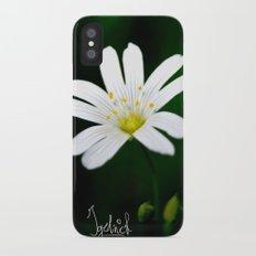 White Flower iPhone X Slim Case
