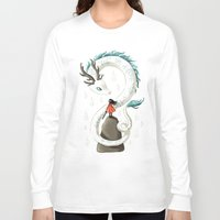 spirit Long Sleeve T-shirts featuring Dragon Spirit by Freeminds