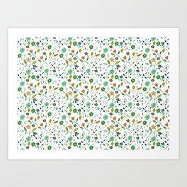 Floral Pattern IV simple draw Art Print