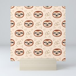 Smiling Sloths Mini Art Print
