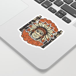 Cloud Chaser - Vaping Native American Sticker