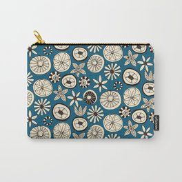 sumer flowers blue Carry-All Pouch