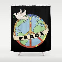 World Peace, Dove, Peace Sign, Earth Shower Curtain