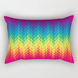 neon rainbow flame chevron Rectangular Pillow