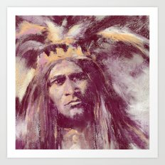 American Indian Portrait Art Print