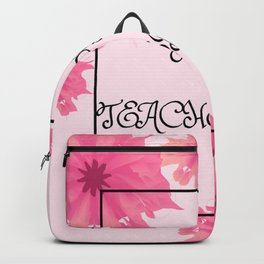 Happy Teacher's day with flowers! Backpack