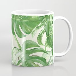 Monstera tropical leaves pattern Coffee Mug