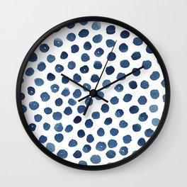 Little blue dots Wall Clock