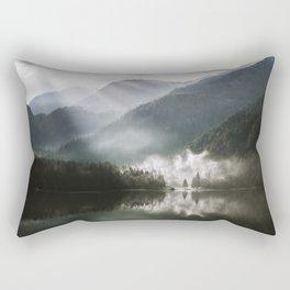 Mountains fog Rectangular Pillow