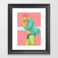 Smoke Framed Art Print
