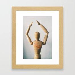 I'm a free b***h baby Framed Art Print