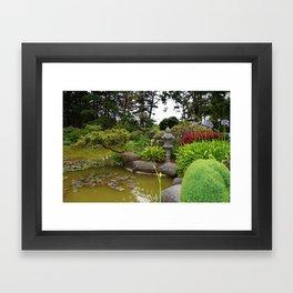 Japanese Garden Lantern Framed Art Print
