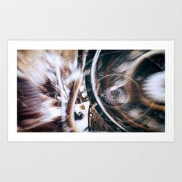 Machine Speed Warp in Blur Art Print