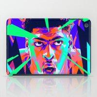 nba iPad Cases featuring Anthony Davis Nba illu V3 by mergedvisible