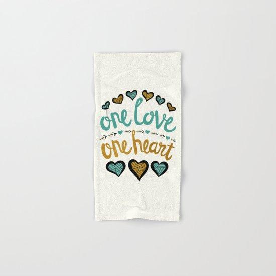 One Love One Heart Hand & Bath Towel