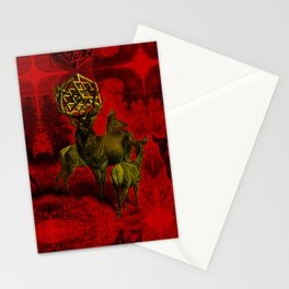 Metatrons cube hypercube II Stationery Cards