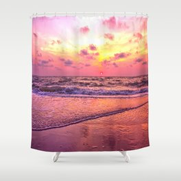 A View For the Soul Sunset Shower Curtain
