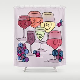 Wine and Grapes v2 Shower Curtain