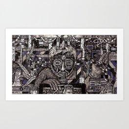 Raw Data (Still Frame 1) Art Print