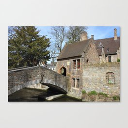 Romantic Spot In Old Town Bruges Canvas Print