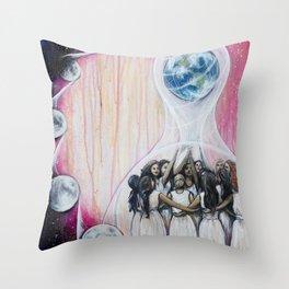 Sister Circle Throw Pillow