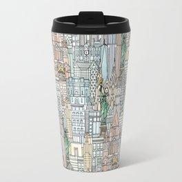 New York watercolor Travel Mug