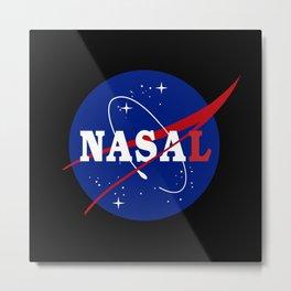NASA-L NASA Parody Metal Print