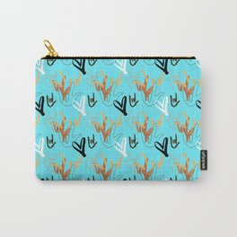 I Love You ILY - Turquoise Carry-All Pouch
