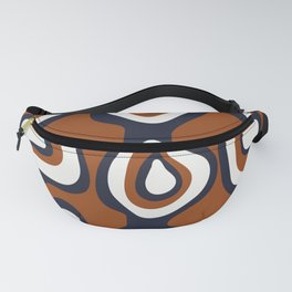 Cells - Navy Rust White Fanny Pack