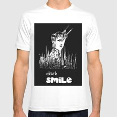 Dark Smile Mens Fitted Tee MEDIUM White