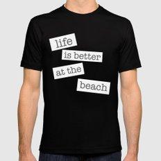 Beach Mens Fitted Tee MEDIUM Black