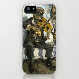 gipsy musician with viola iPhone Case