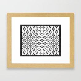 Black&White Ilusionist Pattern Framed Art Print