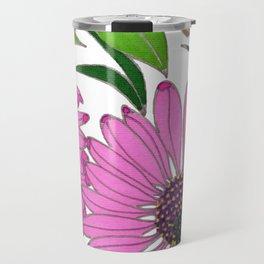 Echinacea by Mali Vargas Travel Mug