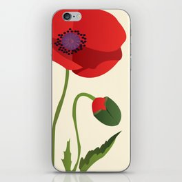 Poppy flower iPhone Skin