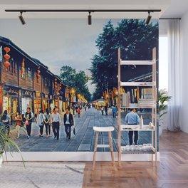 Nanhou Street, Fuzhou City, Fujian Province, China Wall Mural