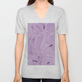 paisley purple Unisex V-Neck
