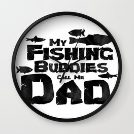 Fishing Dad Cool Father's Day Gift Wall Clock