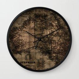 Vintage Map of Australia Wall Clock