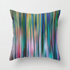 Colored Bamboo Abstract Throw Pillow