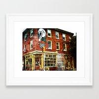 cafe Framed Art Prints featuring Cafe by Kinseysmom