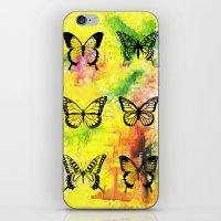 butterflies iPhone & iPod Skins featuring Butterflies by ShaMiLa