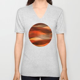 """Sea of sand and caramel waves"" Unisex V-Neck"